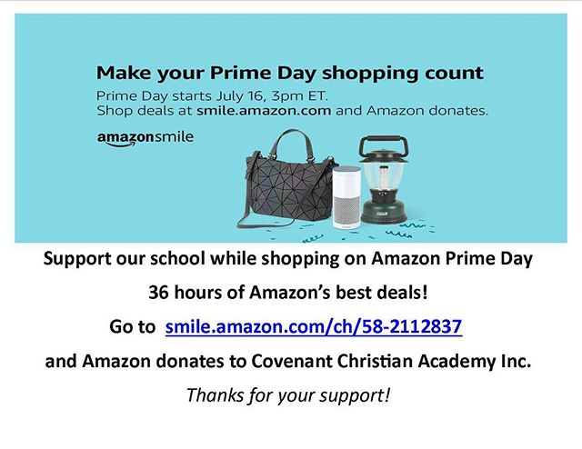#primeday is here! If you're shopping on Amazon today use the link in the photo to support our school while you score great deals.