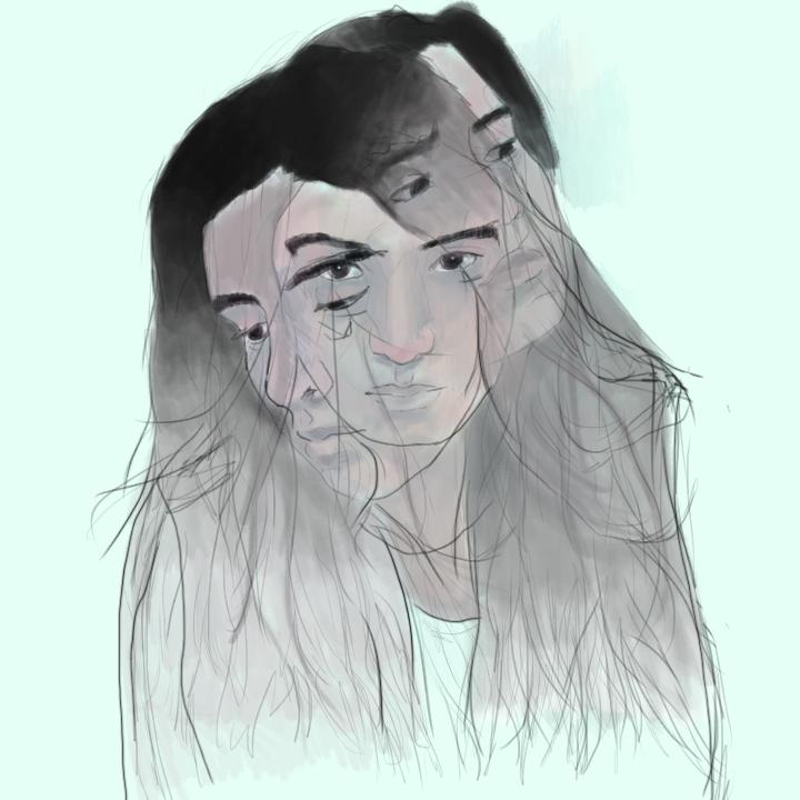 Self Portrait, 2013. Digital Painting.
