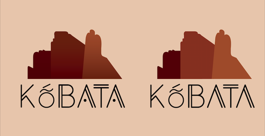 Logo Designed for Kobata. For the indigenous Bri-Bris of Costa Rica the word Kobata means mountain, that was the main inspiration for this logo, besides that we took the cliffs of Cerro Chirripó, the highest point in the country as our second inspiration. Bringing it together is how this came to be our logo.