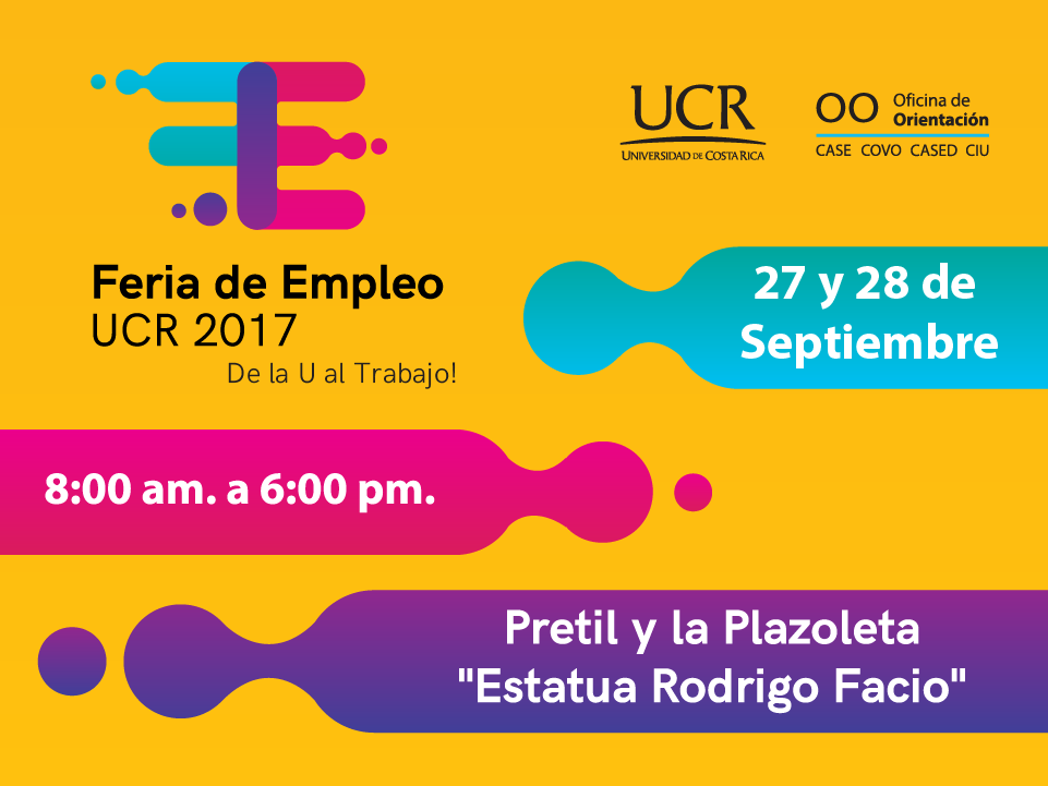 Logo created and currently in use for University Of Costa Rica´s yearly job fair hosted by the Orientation Department. This is an example of some of the materials created for it during 2017.