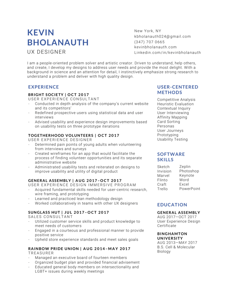 Resume — Kevin Bholanauth