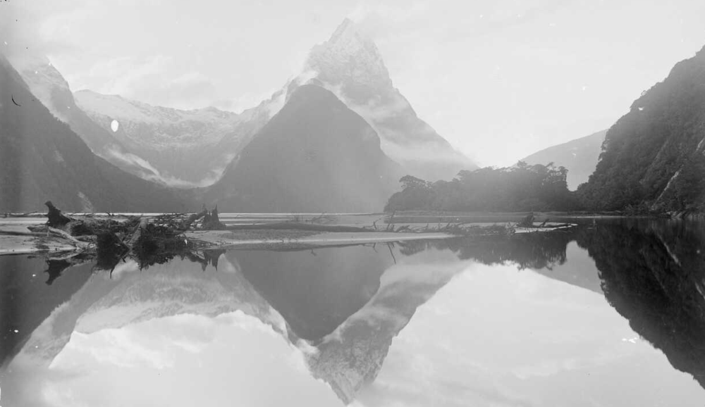 facebook - Connect with me, let me know how you feel today.[Mitre Peak, Milford Sound, Fiordland National Park, Southland District c1850s]