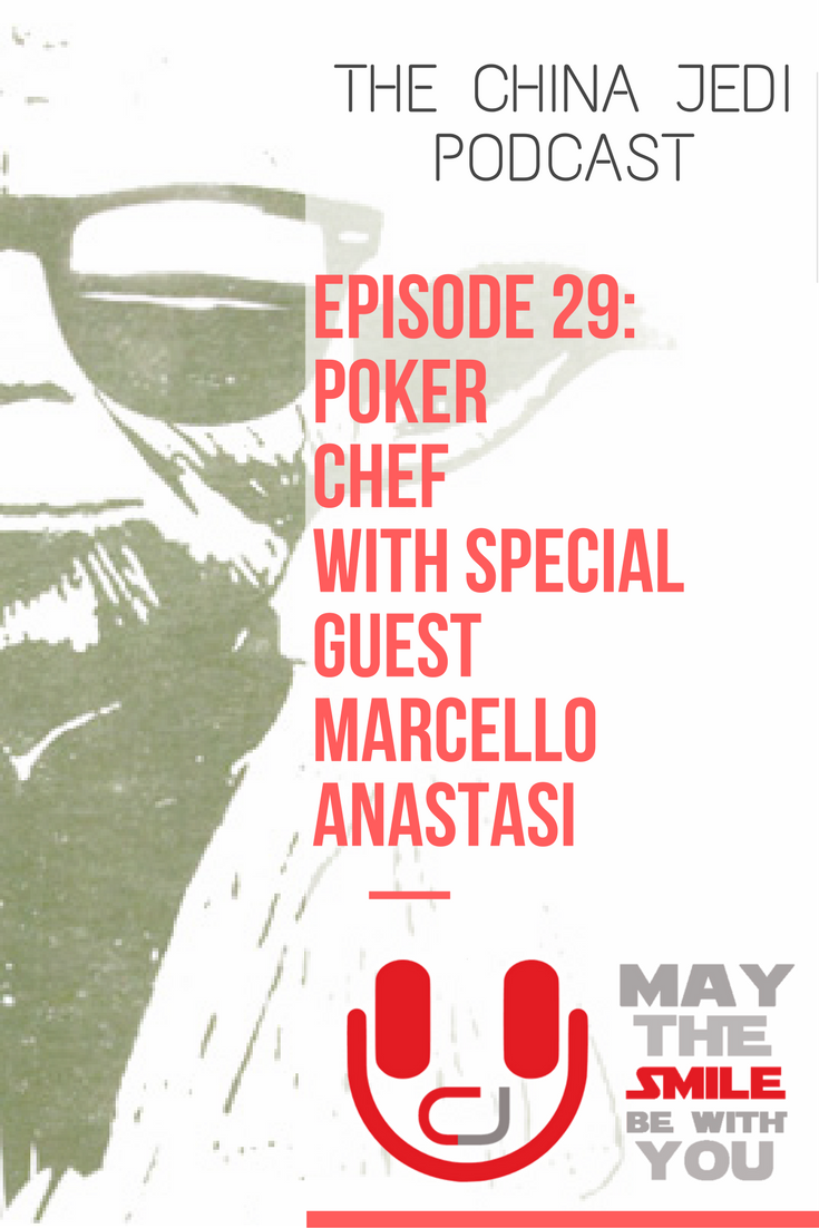 - In this episode - with special guest the intimidatingly-successful, poker-teaching, entrepreneurial-minded gastro-pub owning singer Marcello Anastasi - Chris and William discuss world cuisine, chopsticks, speaking whilst eating, sales talk, dumplings and much, much more. For those living, working or travelling in China or interested in learning about Chinese culture, expat life and foreigners perceptions. Live, work, travel, do business and have fun in China. May the smile be with you!
