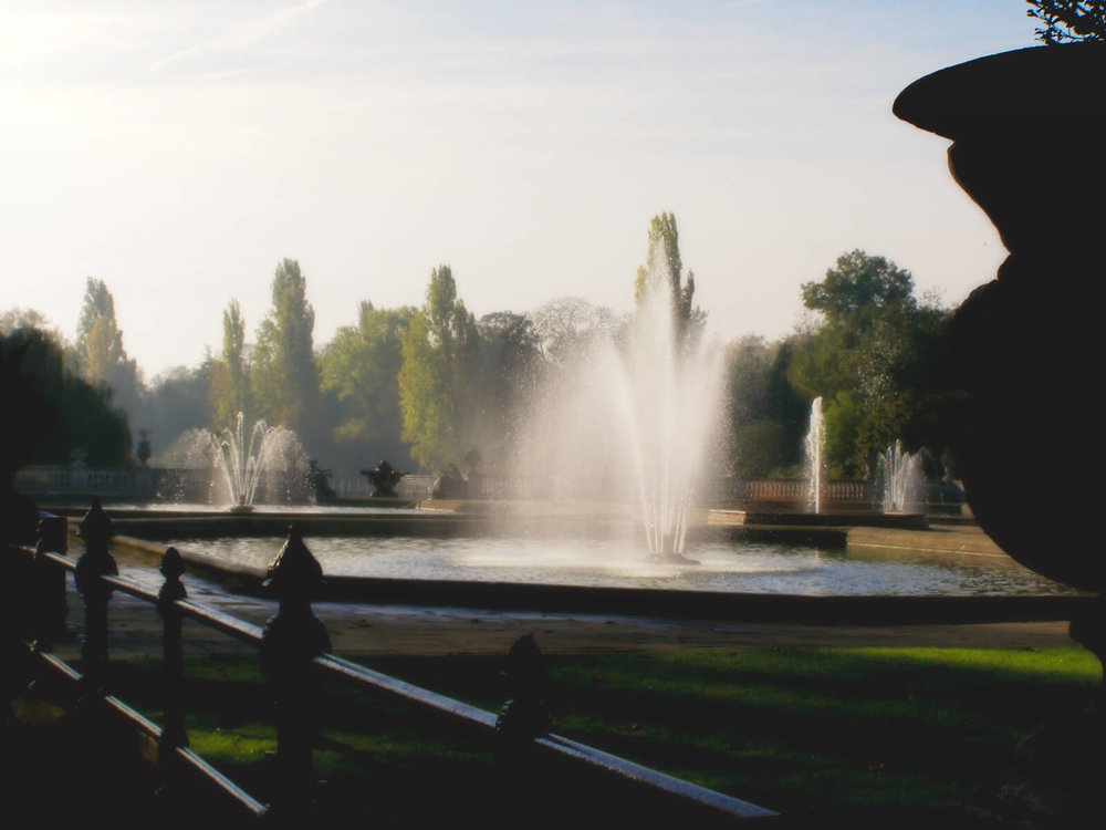 The Italian Water Garden at Kensington Gardens, London.