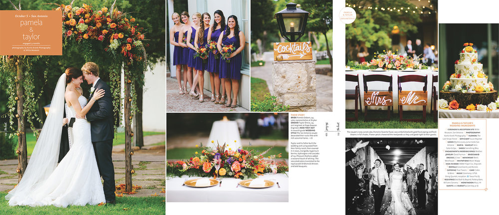 The Knot [Texas] Magazine Featured Wedding  (2016, Pamela & Taylor Dreiss at the Witte Museum)