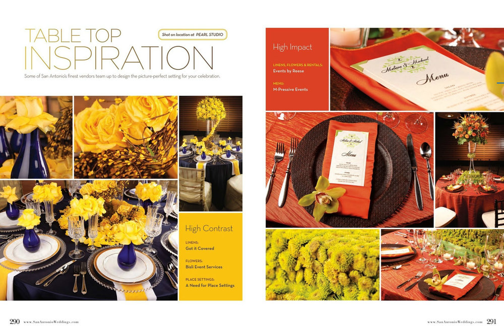 San Antonio Weddings Magazine Feature  (2010, Tabletop Inspiration)