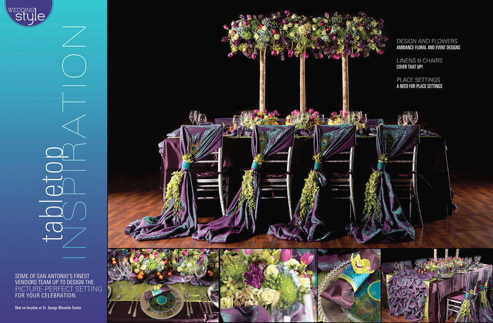 San Antonio Weddings Magazine Feature  (2011, Tabletop Inspiration)
