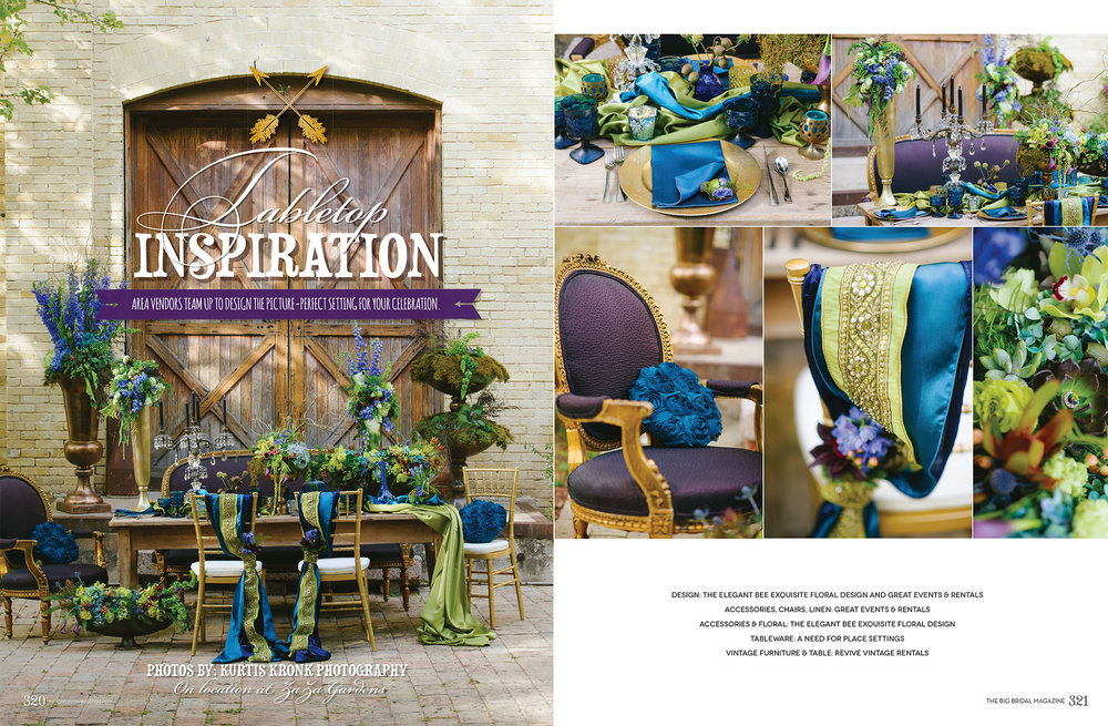 San Antonio Weddings Magazine Feature  (2014, Tabletop Inspiration)
