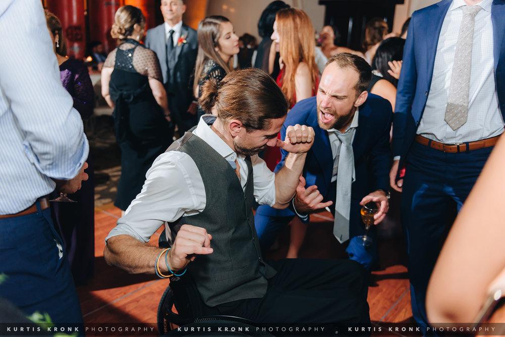 Mission San Jose + Hotel Emma Wedding in San Antonio, TX - Eva & Tommy. Hotel Emma Wedding. Hotel Emma Wedding Reception. Modern Wedding Reception. Urban Wedding Reception. San Antonio Wedding Photographer. Texas Wedding Photographer.  Houston Wedding Photographer. Austin Wedding Photographer. Kurtis Kronk Photography.