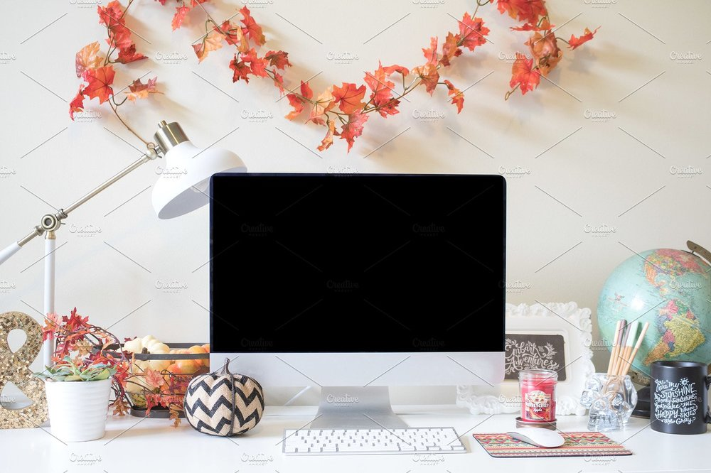 fall desktop mockup