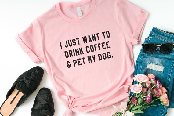 dog+and+coffee+shirt