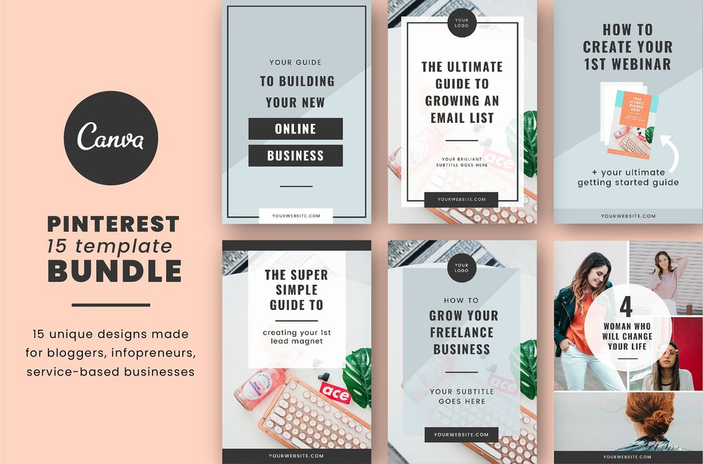 Pinterest Canva Template Bundle