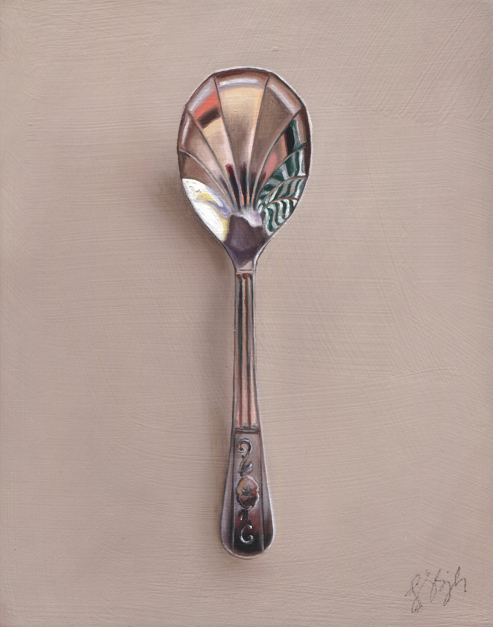 "Silver Spoon #95, The Ringmaster  Oil on panel, 2015. 7x5.5"" Available at  George Billis Gallery,  New York"