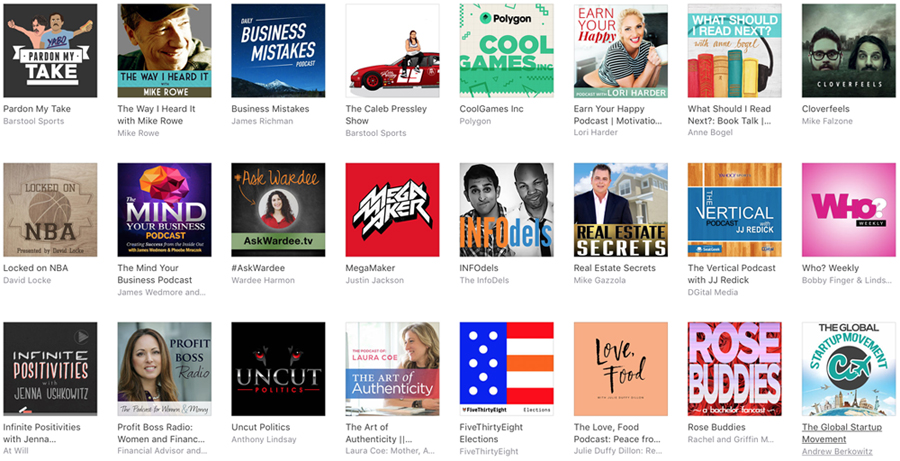 iTunes new and noteworthy podcasts