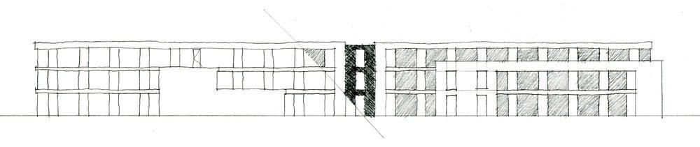 Elevation Design Process Sketch