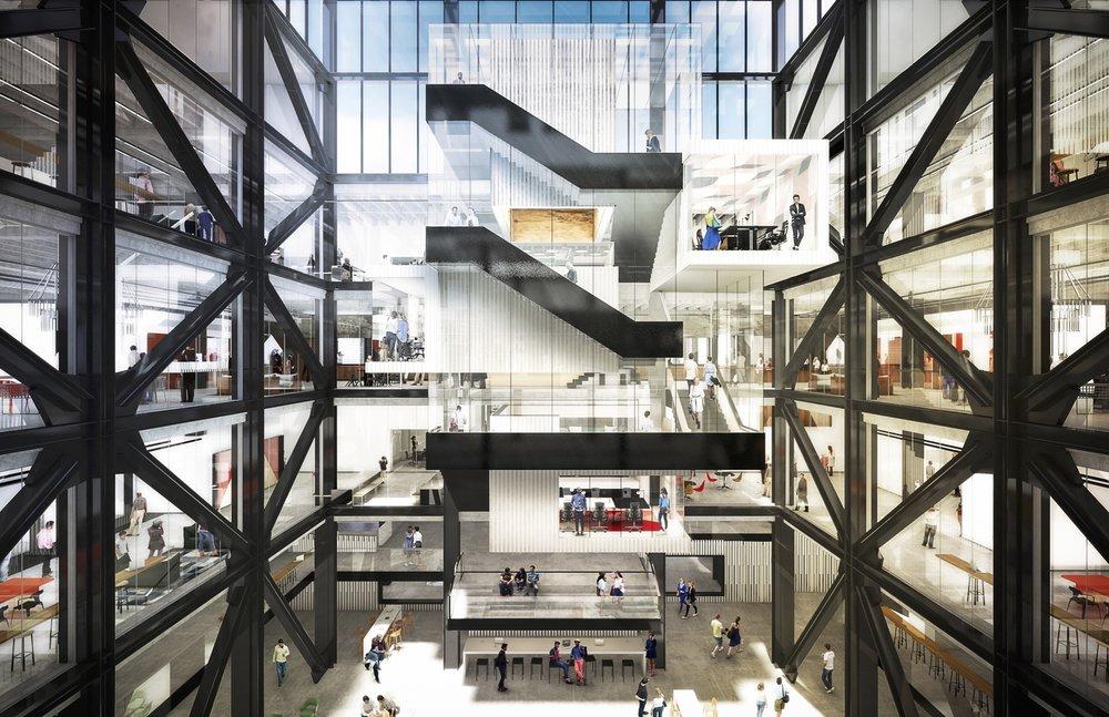 Atrium Stair - Rendering