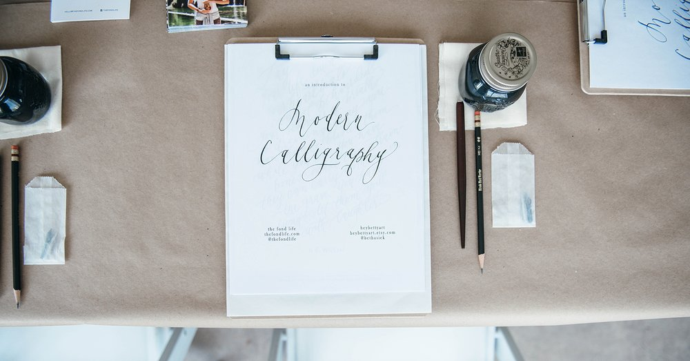 Culinary and Calligraphy Workshop Denver Photo Collective