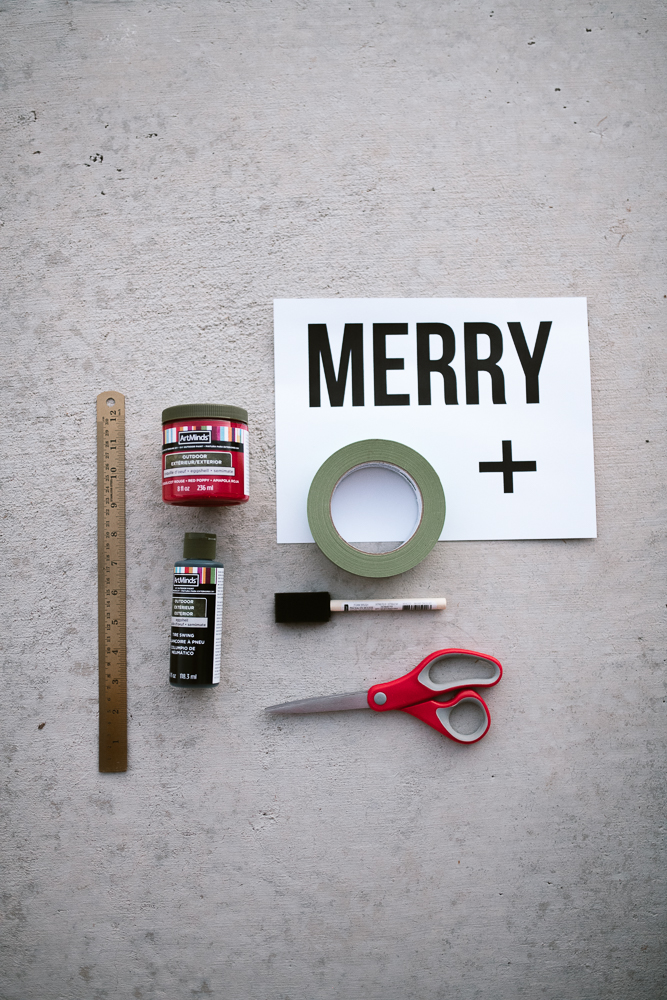 Mcgee and Co christmas doormat diy