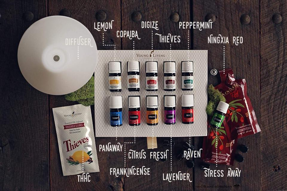 PREMIUM STARTER KIT - This is where you start. Young Living has put together their 11 most popular oils + gorgeous diffuser, all for less than half of what it would cost separately!Order now