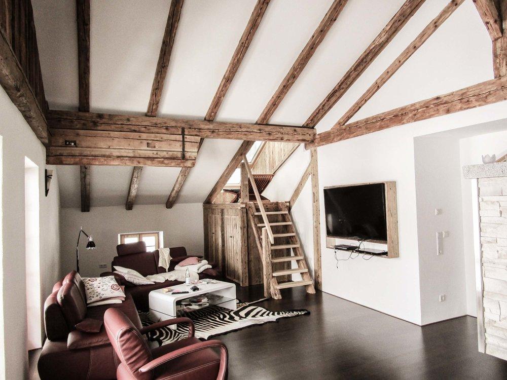 Innenausbau Dach Projekt Zimmerei Stoib