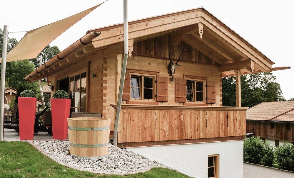 Blockhaus Mit Garage Projekt Zimmerei Stoib