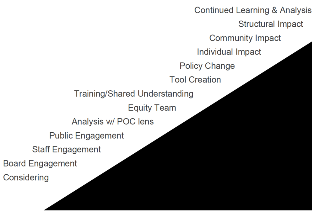 Scale of Diversity, Equity & Inclusion work that an organization can do.
