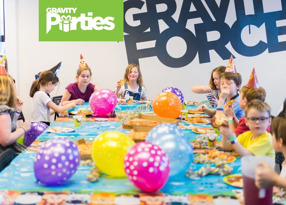 Looking for a fantastic children's party idea? Look no further! Treat your child (and yourself) to an unforgettable birthday party and leave the stressful organisation to us. Parties at Gravity Force will knock their grip socks off!