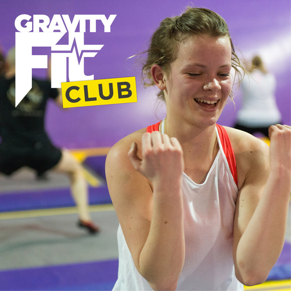 Gravity Fit Club - Unlimited Fitness Class membership at Gravity Force Camberley. Become a Gravity Fit Club member for £29.99/month and attend unlimited Jump Revolution classes!Our classes provide a one hour high intensity- low impact structured fitness class that burns through fat while building, toning and defining muscle. Jump Revolution is all about smiling, laughing, getting fit all while having a ton of fun. Membership includes:A pair of Gravity Force socks on sign up3 x free guest passes on sign upand 10% off any purchases in cafe.***Click here to become a member***