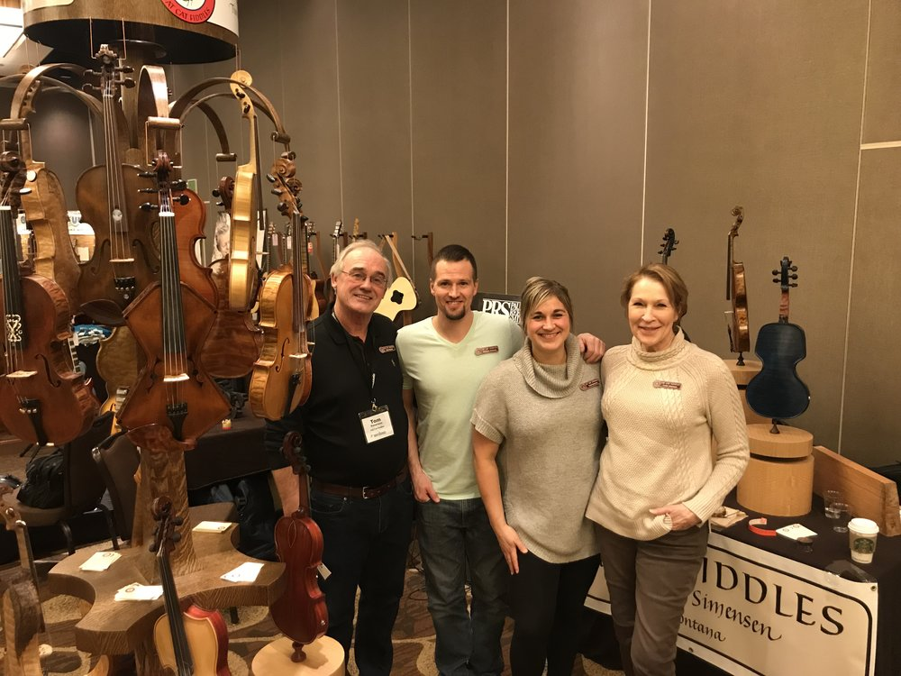 The Fatcat Fiddle crew at Wintergrass 2019