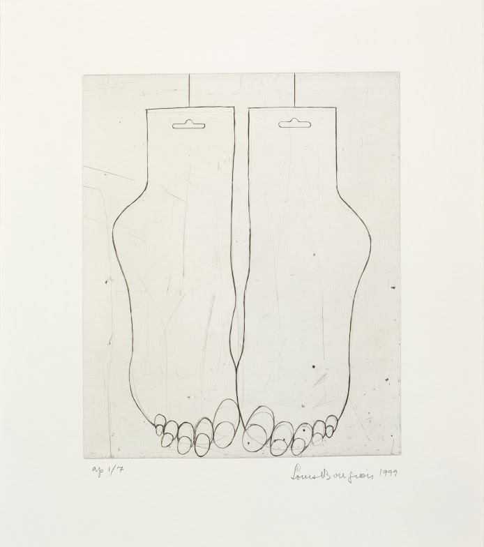 Louise Bourgeois, Drypoint on Paper. Photo: Christopher Burke, The Easton Foundation/VAGA, New York/DACS, London 2015
