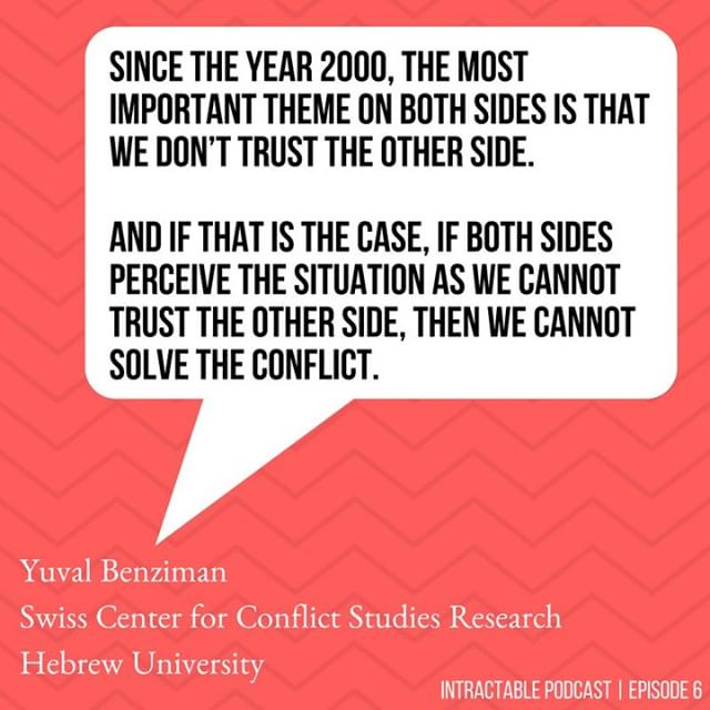 "How has public perception of the conflict evolved over time? Tune in to Episode 6 to hear what (some) people really want. Dr. Yuval Benziman asks, and answers, ""What are they even fighting about?"" Review the podcast and share your thoughts on Apple podcasts or Facebook! What does the conflict mean to you? What makes it intractable? . . . #palestine #israel #intractablepodcast #intractable #israelipalestinianconflict #podcast #israeli #palestinian #conflict #research #socialscience #trust #conflictstudies #radio #trust #instagram #politicalscience #political #whatdothepeoplewant"