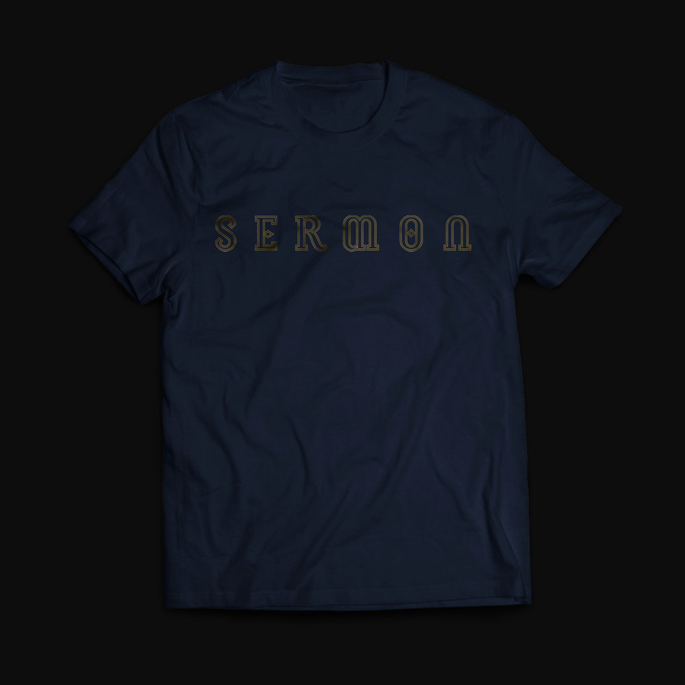 Sermon - 'Logo' Navy Blue T-Shirt - £14.99