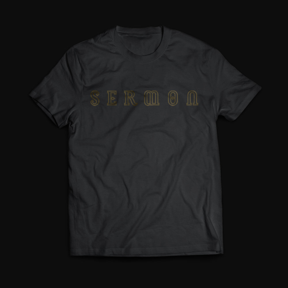 Sermon - 'Logo' Black T-Shirt - £14.99