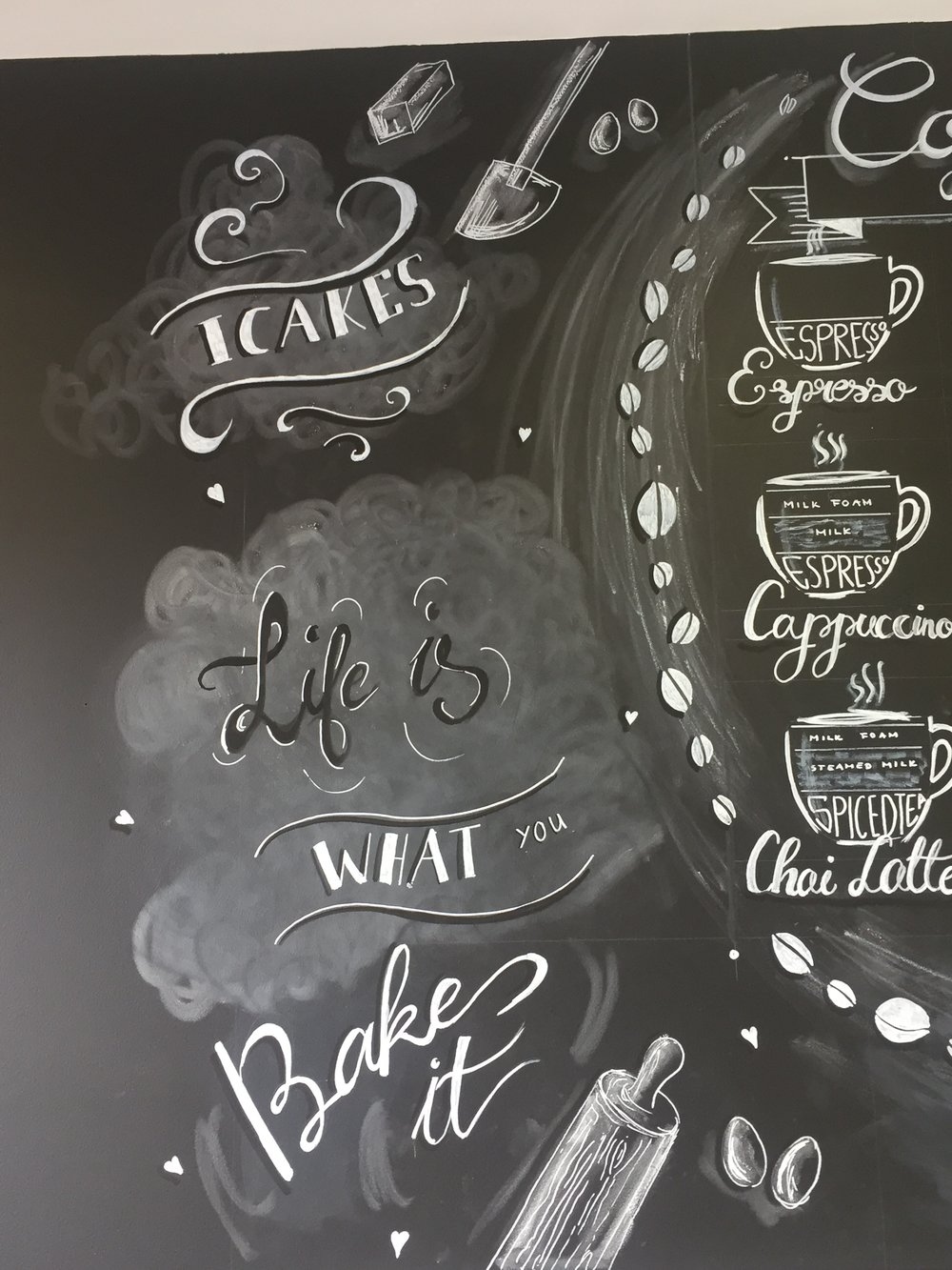 Chalkboard Wall Design For Icakes Ilford Gabriella Horvath