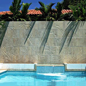 Lotus Carved Wall in Situ