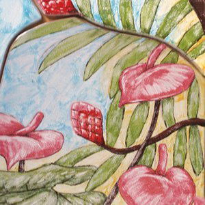 Heliconia Panel Detail