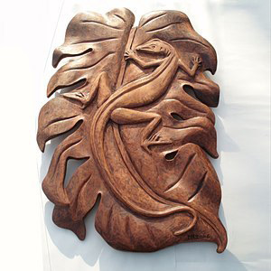 Lizard Woodcarving