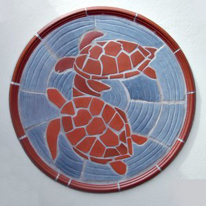 Turtle Ceramic Wall Piece
