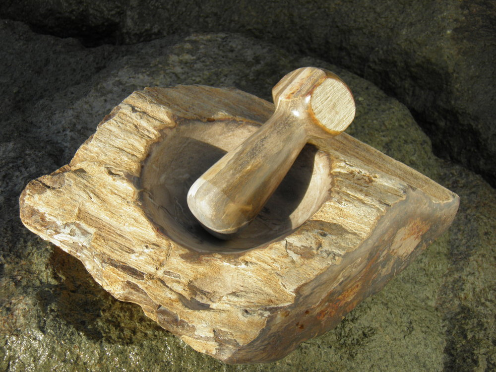 Petrified Wood Mortar and Pestle