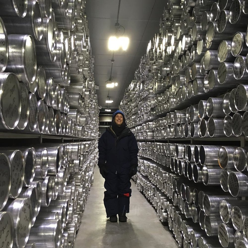 Weil visited frozen ice core repositories at the National Ice Core Laboratory in Denver, Colorado to create  88 Cores .