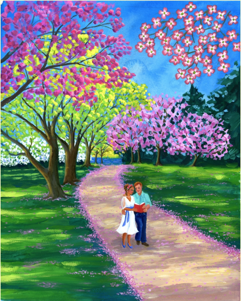 This painting was commissioned for the March/April issue of Bookmarks magazine and is inspired by areas of Norfolk and Canaan CT