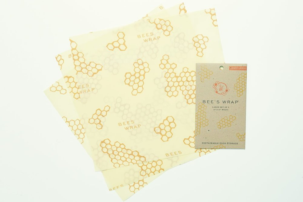 Beeswrap! A replacement to plastic wrap. You can literally use these to wrap or cover any cheese, open bowls, fruits, etc. And they are washable and reusable!