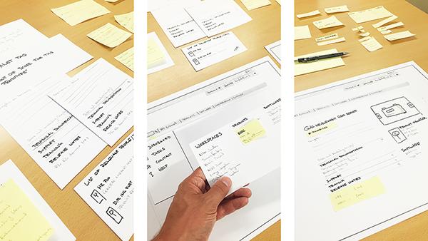 Paper Prototype // Lab Study // Personas // Workshops // Wireframes // Mockups - Landis+Gyr