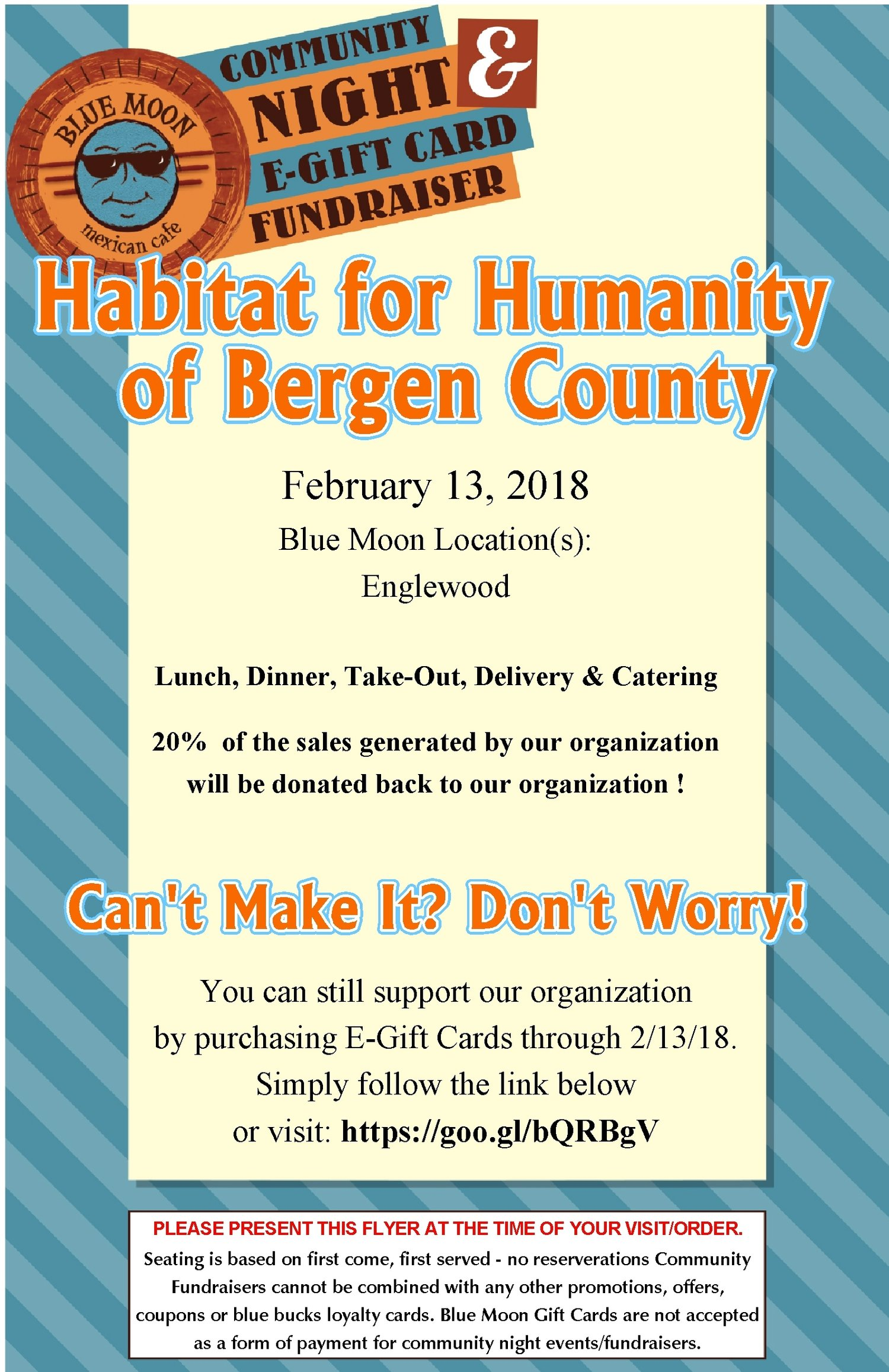 Habitat Bergen Community Night at Blue Moon — Habitat for Humanity ReStore Bergen County in Westwood New Jersey