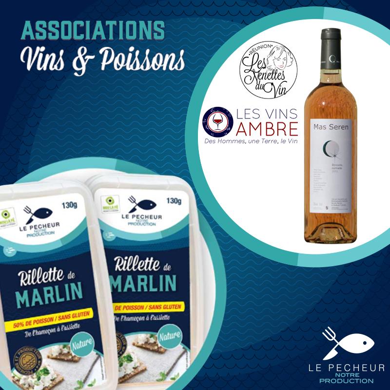 Rillettes deMarlin au Curry - Recommandations/ Conseils: Pour accompagner ces rillettes je me suis faite plaisir avec un vin blanc de ma région préférée le Languedoc. Un vin blanc sec, un peu racé, fruité, avec une belle acidité, très agréable.Mas de Figuier VINS BIO Seigneur de Leuze Blanc 2017 Sylvie & Gilles Pagès – Domaine Mas de Figuier BIOAppellation: LanguedocCépage(s): Grenache blanc, RoussanneMes Notes de Dégustation: Le nez est puissant, franc, floral et dominé par la minéralité et des notes d'épices.