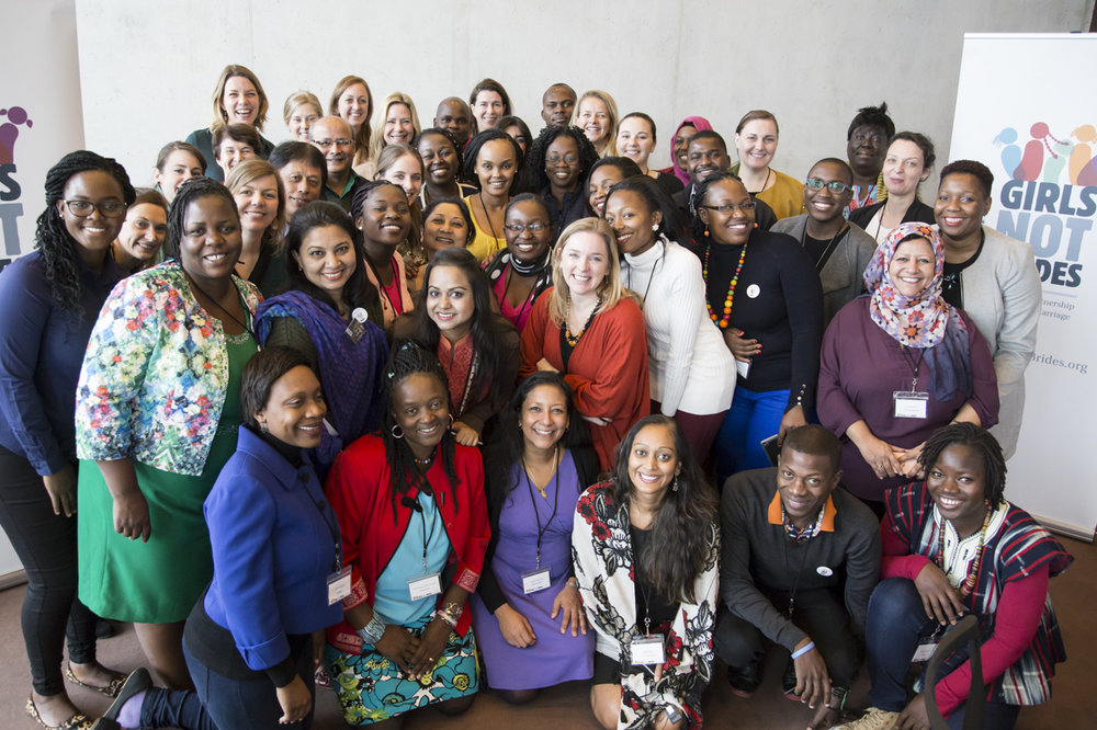 Girls Not Brides  members at the second workshop for National Partnerships coordinators. The event was held in Amsterdam, in the Netherlands, in November 2016.