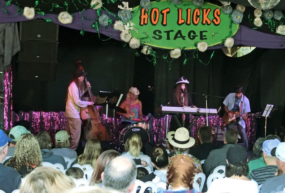 HOT LICKS - Our Hot Licks Stage heats up with dancing on Friday and Saturday nights, after the main stage closes. On Saturday and Sunday mornings Hot Licks presents some of the best local performers from the Central and South Coast. Plus you can find shows for children midday at Hot Licks, including the ever-popular Kid's Talent Show on Sunday.