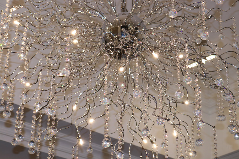 Beautiful chandelier at RBDC