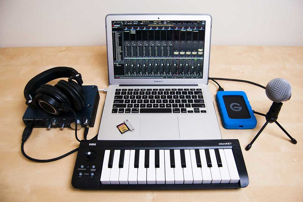 Included @GROOVE U - Apple Laptop with AppleCareRecording InterfaceController KeyboardExternal Hard DriveStudio HeadphonesProfessional MicrophoneAudio, Video, and Productivity SoftwareWeb Hosting