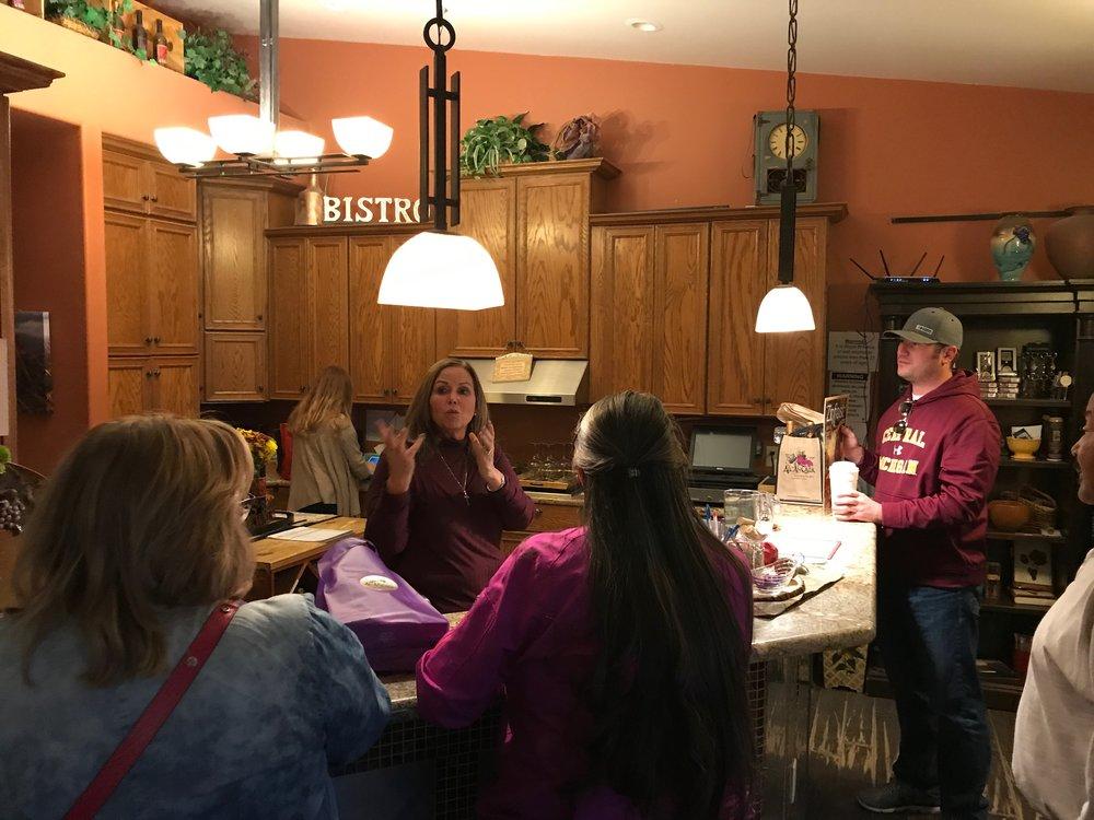 Barbara Predmore sharing stories